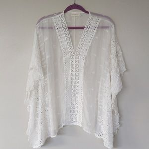 4 love and liberty White Silk cover-up tunic XS